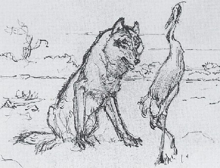 Illustrations to Ivan Krylov's fable