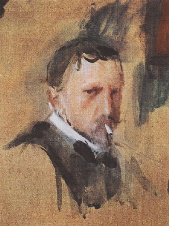 Self-portrait of Valentin Serov 1901