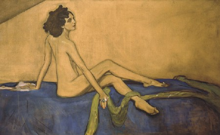 The dancer Ida Rubinstein, the portrait by Valentin Serov