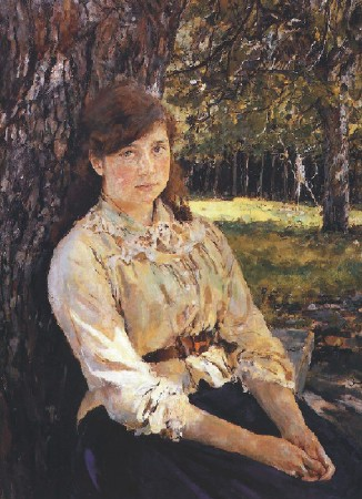 Girl in Sunshine by Serov, 1888