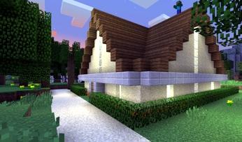 Майнкрафт домик в деревне