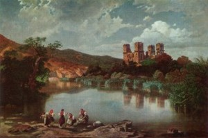 Karoly Telepy - The Ruins of Diosgyor Castle, Review and Painting Scan